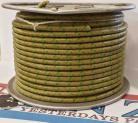 12ga, OVERSTOCK, Lacquer Coated Cloth Braided Wire, Asparagus / Green XT