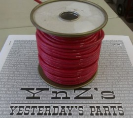 16ga, OVERSTOCK, Lacquer Coated Cloth Braided Wire, Red